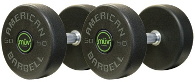 American Barbell DBAB1 Series I Urethane Dumbbells with Custom Logo Design