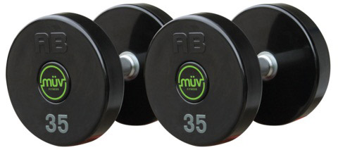 American Barbell Series II Urethane Dumbbells with Custom Logo Design