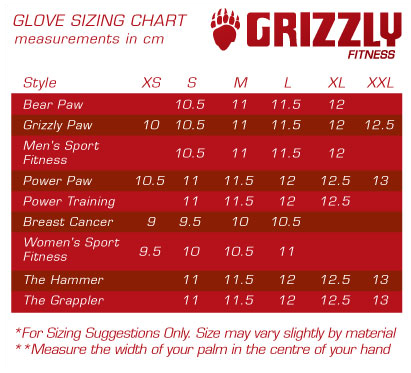 Womens Grizzly Paw Weightlifting Gloves White Grizzly 8728l 0409