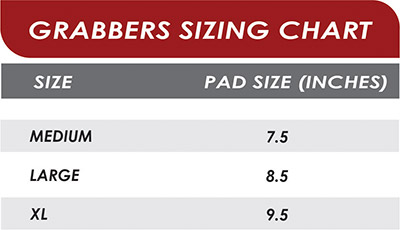 Grizzly Fitness Grizzly Grabbers Sizing Chart