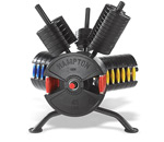Hampton Fitness Fusion Olympic Barbell Grip Plates with Colored Rotating Urethane Grip Handles