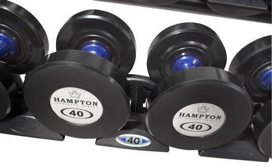 Hampton Blue Handle Urethane Dumbbells