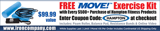 Free Move! Exercise Kit with purchase of Hampton Dura Bell Rubber Hex Dumbbells