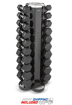Hampton V-2-10 10-Pair Vertical Dumbbell Rack for Dumbbells Up to 25 lbs.