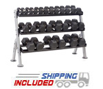 Hampton 3T-52 Urethane Hex Dumbbell Rack for Dura-Bell Urethane Hex Dumbbells