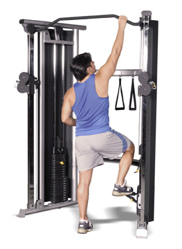 Inflight 2 Stack Functional Trainer Step Use