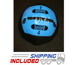 4 lb. Blue Soft Cover Large Diameter Wall Medicine Balls