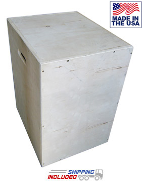 3-in-1 Plyo Box Wooden Cube