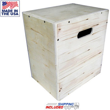 3-in-1 Plyo Box Wooden Mini Cube