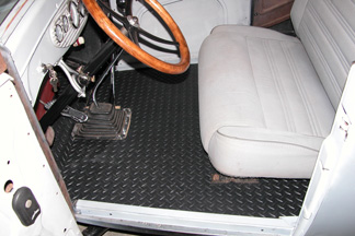 flooring in car