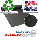 "Rolled rubber gym flooring 3/8"" natural"
