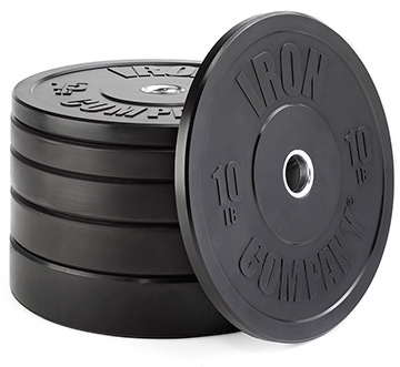 IRON COMPANY Virgin Rubber Bumper Plates and Sets