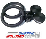 Ironcompany ABS Plastic Gymnastics Rings and Adjustable Cam Buckle Straps