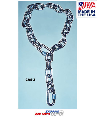 Chain Attachment Sling with Links for Indoor Climbing Rope