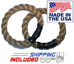 "Manila 12"" Rope Rings for Suspension (Pair)"