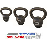 4-44KG Economy Kettlebell with Rubber Base