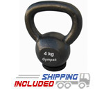 4KG Economy Kettlebell with Rubber Base