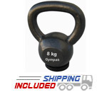 8KG Economy Kettlebell with Rubber Base
