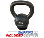 12KG Economy Kettlebell with Rubber Base