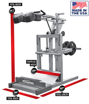 Legend Fitness 3129 Plate Loaded Squat Machine for Commercial Gyms