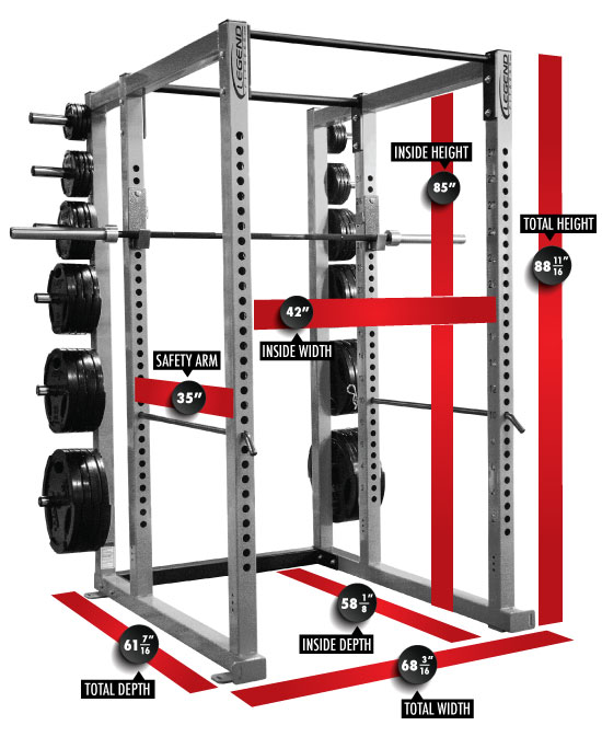 Heavy-Duty Power Cage -- Legend Fitness (3133