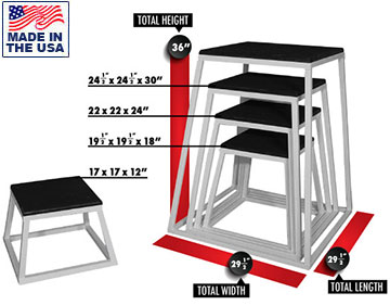 USA Made Fully Welded Commercial Plyo Boxes