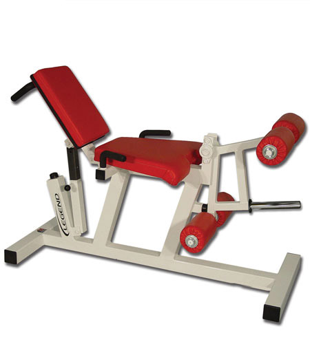 plate loaded leg extension machine