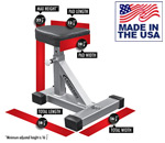 Legend Fitness 3143 Barbell Squatting Stool