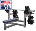 Legend Fitness 3150 Flat Olympic Bench Press w/Plate Storage