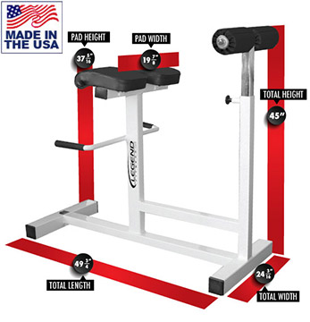Legend Fitness 3151 Adjustable Horizontal Hyperextension Bench
