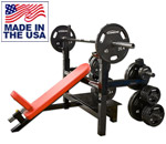 Legend Fitness 3154 Incline Olympic Bench Press with Plate Storage