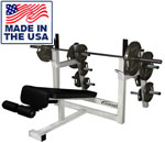 Olympic Decline Bench with Plate Storage