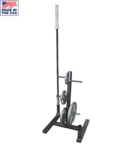 Legend Fitness 3173 Weight Plate Tree / Olympic Bar Organizer Combo