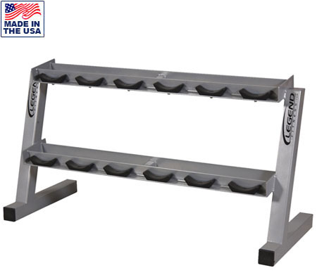 USA Made Legend Fitness 3190 6 Pair Pro-Style Commercial Dumbbell Rack