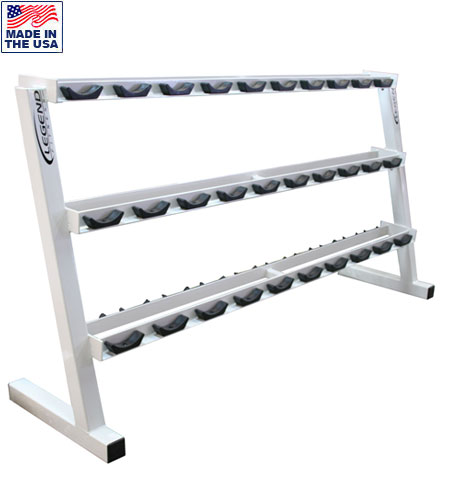 Legend Fitness 3191 15-Pair Pro-Style Commercial Dumbbell Rack