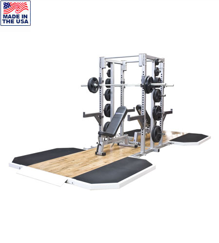 Legend Fitness 3155-3223-2 Double Sided Half Cage with Dual Insert Platforms