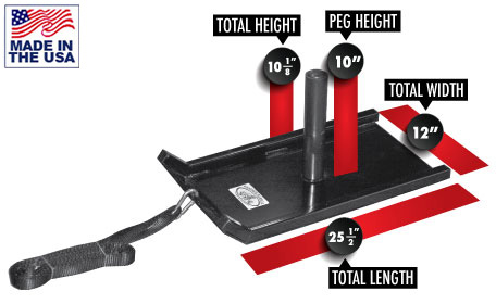 Legend Fitness 3219 Plate Loaded Pulling Sled with Pulling Strap