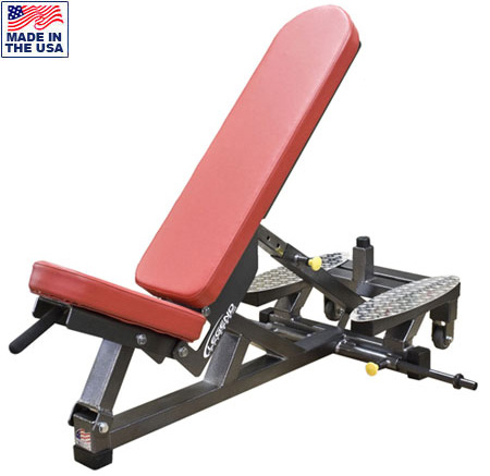 USA Made Legend Fitness 3222 Self-Adjusting Three Way Bench for Power Racks