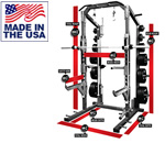 Legend Fitness 3226-3223-3222 PRO SERIES Half Cage with Platform and Three-Way Utility Bench