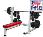 Legend Fitness 3240 PRO SERIES Olympic Flat Bench with Weight Holders and Band Pegs