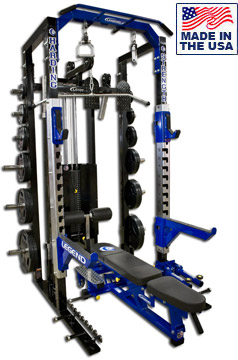 Fusion Series Pro Modular Half Cage with Lat Pulldown / Low Row