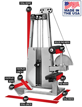 Legend Fitness 907 Selectorized Lower Back Extension Machine