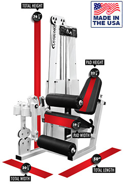 Legend Fitness 918 Selectorized Leg Extension / Leg Curl Combo Machine