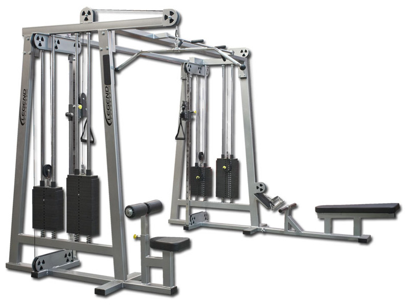 Cable crossover plus jungle gym legend fitness