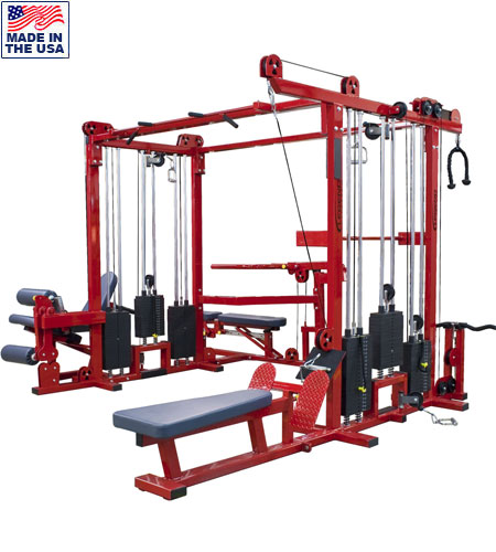 Legend Fitness 965 Six Weight Stack Combo Jungle Gym for Commercial Gyms
