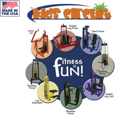 Legend Fitness 969 Kids Fitness Equipment Circuit for Schools