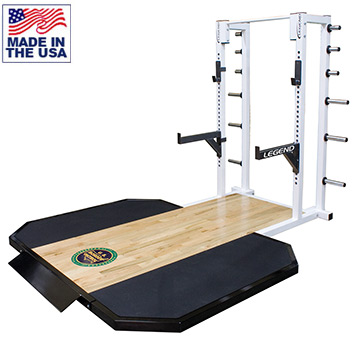 Legend Fitness 3142-3223 Half Cage with Oak Insert Lifting Platform