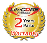 LifeCORE Fitness 2 year warranty