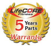 LifeCORE Fitness 5 year warranty