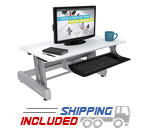 InMovement by LifeFitness Elevate Desktop DT2 Standing Desk
